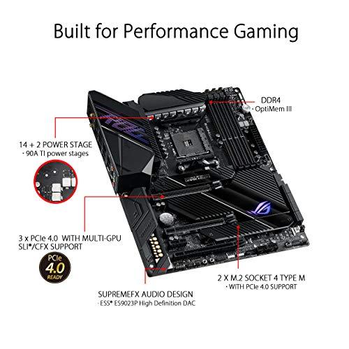ASUS ROG Crosshair VIII Dark Hero AMD AM4 X570S Zen 3 Ryzen 5000 & 3rd Gen Ryzen ATX Gaming Motherboard (PCIe 4.0, 14+2 Ti Power Stages, PCH Heatsink, Wi-Fi 6, 2.5 Gbps LAN, USB 3.2 Gen 2 Type-C