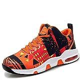 XIANGYANG Chaussures de Volley-Ball, Chaussures de Volley-Ball légères Chaussures de Sport multifonctionnelles Chaussures de Basket Respirantes,Orange,39