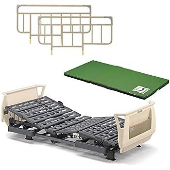 パラマウントベッド 介護ベッド Q-AURA(クオラ)3モーター KQ-63310(レギュラー) +ストレッチスリムマットレス+ベッドサイドレールのお得な3点セット
