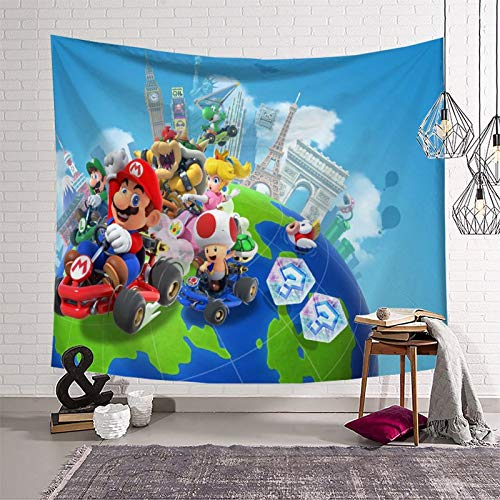 Colorful Tapestry Super Mario for Walls Living Room Bedroom Home Decoration Tapestry (150x210cm)