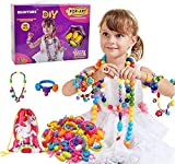 Happytime Snap Pop Beads Girls Toy 180 Pieces DIY Jewelry Marking Kit Fashion Fun for Necklace Ring...