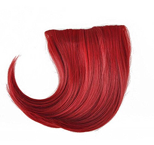 Colorful étape perruque, parti perruque, cheveux Bangs Perruques,Rouge sombre