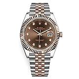 Rolex Datejust 41 Steel & Everose Gold Watch Jubilee Bracelet Chocolate 126331