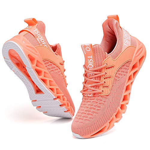 Ezkrwxn Sneakers for Women Gym Athletic Sport Running Workout Shoes Pink Size 8 mesh Breathable Tennis Fashion Casual Comfort Walking Jogging