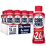 Core Power fairlife Core Power High Protein Milk Shake, Strawberry banana, 14 Fl Oz (Pack of 12)