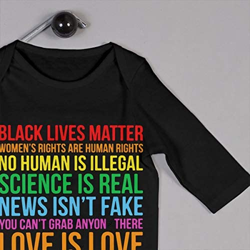 Science is Real Black Lives Matter Toddler Baby Boy Short Sleeve Bodysuits Vest Clothes Romper Outfit