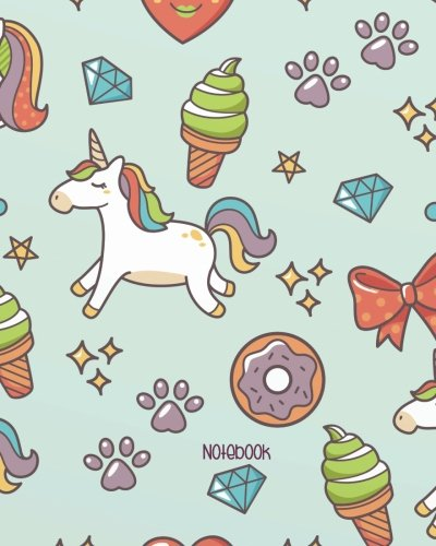 Notebook: Unicorn Bullet Journal: Unicorn Notebook Dotted Grid for   Girls: 132 Pages of 8'x10' Unicorn Notebook Unicorn Bullet Journal: Volume 2