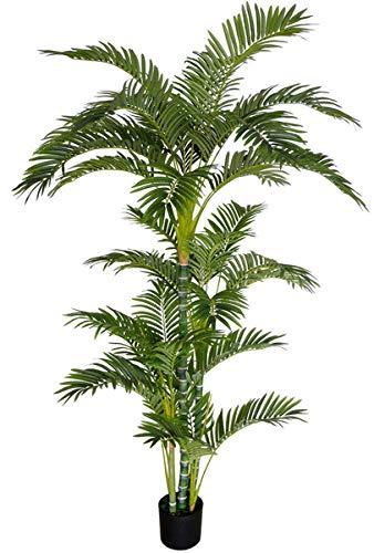Seidenblumen Roß Arekapalme Deluxe 190cm DA Kunstpalmen künstliche Palmen Arecapalme Dekopalme