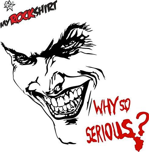 SET Joker Batman + Schriftzug Why so serios? ca. 50x30 cm Aufkleber Sticker Motorhaube