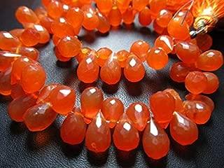 Jewel Beads Natural Beautiful jewellery Carnelian Briolette, Teardrop shape, Faceted, AAA quality,4x6, 5x8 mm approx,8 inch StrandCode:- BB-20821