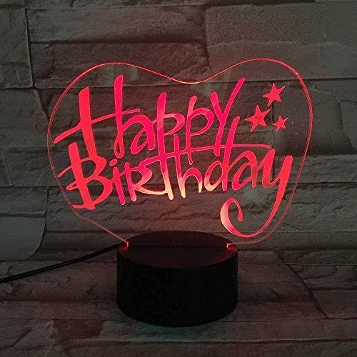 Lámpara de ilusión 3D LED noche luz accesorios de juego para escritorio decoración del hogar regalos para niños cumpleaños regalo de Navidad