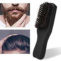 プロの男性のひげブラシソフトシェービングブラシ美容のための顔のひげクリーニングブラシ(black)