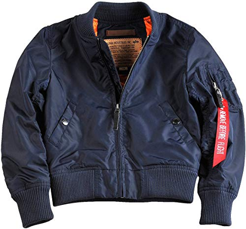 Alpha Industries MA-1 TT Kinder Jacke Dunkelblau 158-164