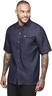 Industry Line Men's Chambray Kitchen Shirt with Contrast Stitching (S-3X, 2 Colors)