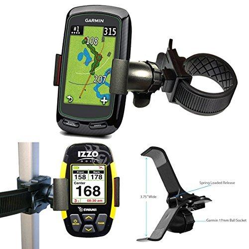 ChargerCity Gurt sperren 360° drehen Anpassung Golf Trolley Warenkorb Pole Bar Mount für Garmin Approach G3G5G6G7G8Golf Buddy Tour Stimme World Platinum VS4Izzo Swami SkyCaddie TOUCH SGX SGXw SG3.5sg4.5Breeze Callaway UPro MX + ragefinder GPS (passt Smartphone auch)