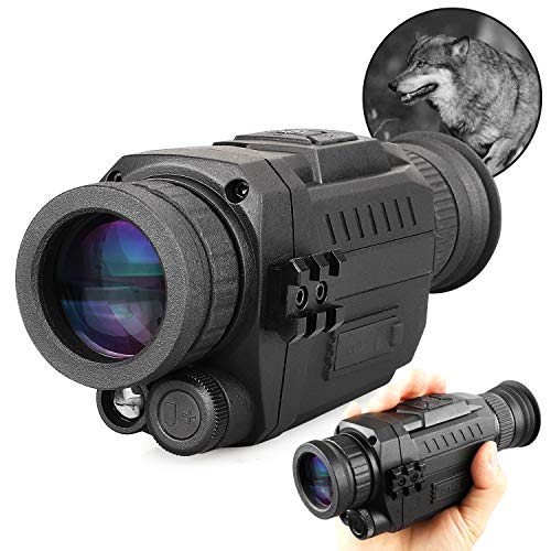 Night Vision Monocular 5x35mm Digital zoom 8x Infrared Hunting Scope with...