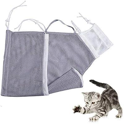 FFCC Grooming Bag Adjustable Bag,Soft Mesh Bath Bag with Adjustable Drawstring for Bathing Injecting Examining Nail Trimming