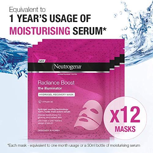 Neutrogena Radiance Boost Mascara De Recuperacion Con Hidrogel - 12 Unidades X 30 ml.