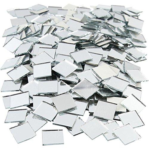 Spiegel Mozaïek Tegels, maat 16x16 mm, dikte 2 mm, vierkant, 500st