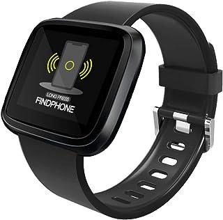 TO.1 Smartwatch Deportivo Impermeable Multifuncional Vigilancia Cardiaca Arterial Metálica Herramienta Fisiológica para Hombres,Mujeres,niños iOS Android Smartwatch