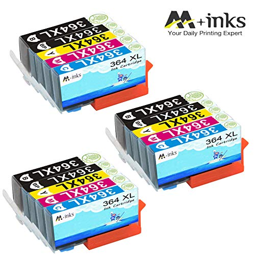 AA+inks 15 confezioni di ricambio per Sostituito per cartucce d'inchiostro HP 364XL 364 Compatibile con HP Photosmart 6520 5510 7510 7520 6510 5515 5520 C5380 B110a Stampanti HP OfficeJet 4620 4622