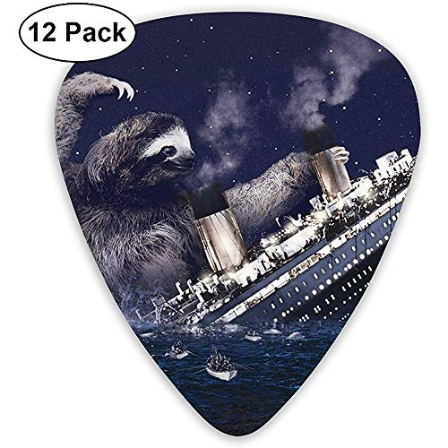 Titanic Classic Plektren (12er Pack) für E-Gitarre, Akustikgitarre, Mandoline und Bass