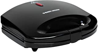 Black & Decker TS1000-B5 2 Slice Sandwich Maker, 600W - Black