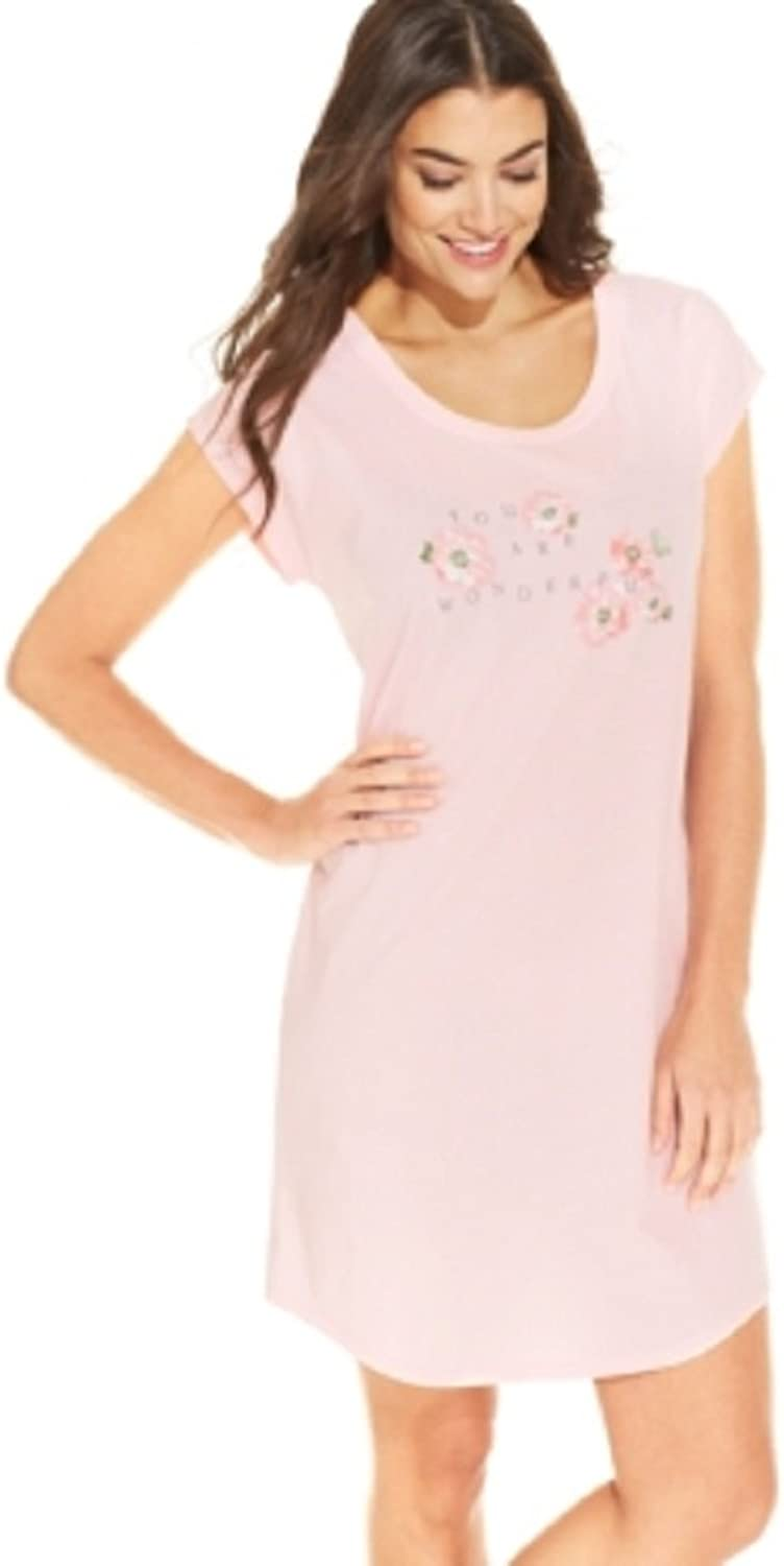 Charter Club You are Wonderful Chemise, Pink, XXL
