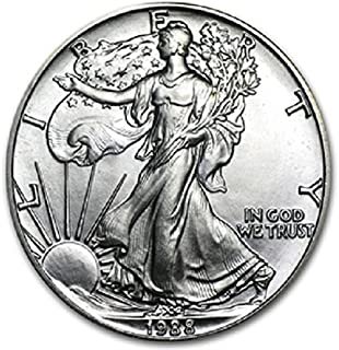 1988 American Silver Eagle .999 Fine Silver Dollar Uncirculated US Mint with Our Certificate of Authenticity