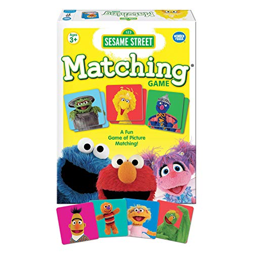 Wonder Forge Sesame Street Matching for Boys & Girls Age 3 to 5 - A Fun & Fast Muppet Memory Game JungleDealsBlog.com
