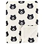 Hudson Baby Unisex Baby Plush Blanket with Sherpa Back, Forest, One Size