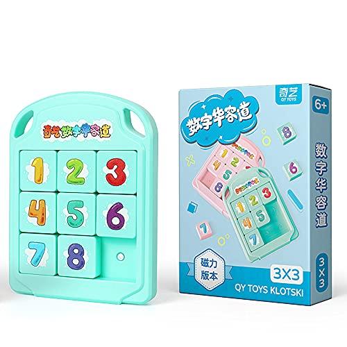 LiangCuber QY 3x3 Klotskiパズル磁気スライド番号ブロックパズルABS楽しいデジタルパズル子供向けおもちゃQYおもちゃ8 Klotski