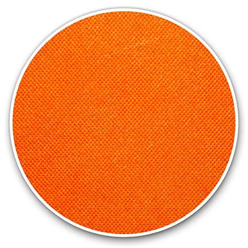 Pegatinas de vinilo (juego de 2 unidades, 7,5 cm, efecto de lienzo naranja brillante #3167