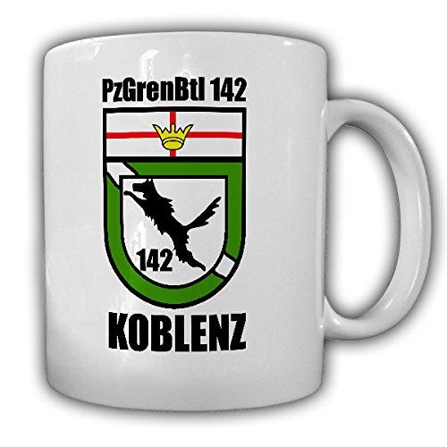 PzGrenBtl 142 Koblenz Panzergrenadierbataillon Wappen Bundeswehr Panzergren Wolf Abzeichen Einheit Grenadiere Reservist - Tasse Kaffee Becher #15621