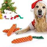 Airsun 2 Unidades de Juguetes para morder de Zanahoria y Perro, Cuerda de algodón, Juguete de Limpieza Dental para Mascotas Medianas y pequeñas