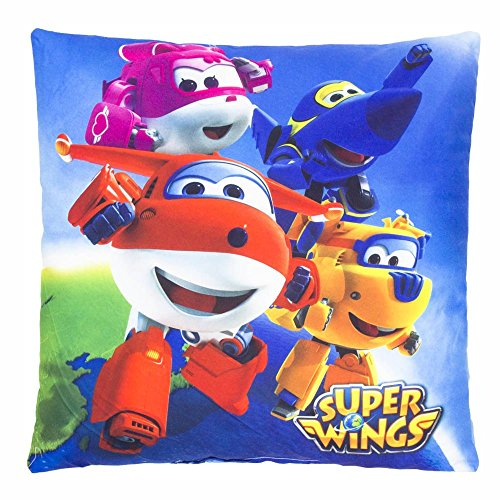 Super Wings Flyer | Kids Pillow 35 x 35 cm Cuddly Throw Cushion