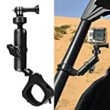 MAIKER UTV ATV Camera Mount Holder Compatible with GoPro, 1.75'-2' Roll Bar Compatible for All GoPro Models, Such as GoPro Hero 9, 8,7,5 4, Session, GoPro Max, Insta360 etc