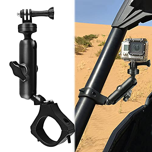 """MAIKER UTV ATV Camera Mount Holder Compatible with GoPro, 1.75""""-2"""" Roll Bar Compatible for All GoPro Models, Such as GoPro Hero 9, 8,7,5 4, Session, GoPro Max, Insta360 etc"""