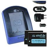 2 Baterìas + Cargador (USB/Coche/Corriente) para Panasonic DMW-BLC12 / Lumix DMC-G5, G6, G70, GH2, GX8, FZ300. / Leica Q (Typ 116) - Ver Lista