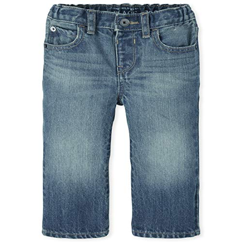 The Children's Place Boys' Baby and Toddler Basic Bootcut Jeans, Pierce Wash, 12-18 Months