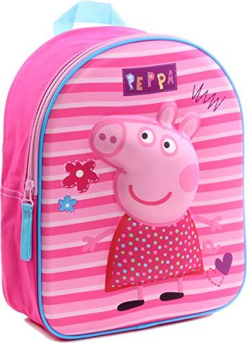 Bagage (zakken, schooltas, etui, paraplu) Peppa Pig Fantasie rugzak 3D 007-8535, 31 x 25 x 12 cm