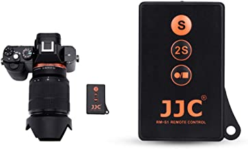 JJC Wireless Remote Control with Extra Start/Stop Video Button for Sony A6000 A6300 A6400 A6500 A6600 A7III A7II A7 A7SII A7S A7RIV A7RIII A7RII A7R A9 A9II NEX-6 NEX-7 A99II A99 & More Sony Cameras