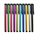 INNOLIFE Metal Stylus Touch Screen Pen Compatible with Apple iPhone 4 4S 5 5S 5C 6 6 Plus iPad Galaxy Tablet Smartphone PDA (10pcs Mixed Colors)