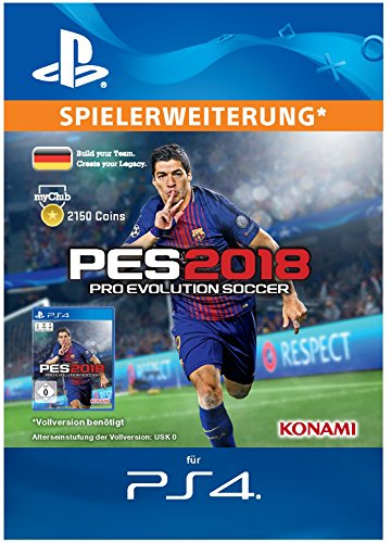 PES 2018 myClub Coin 2150 [PS4 Download Code - deutsches Konto]