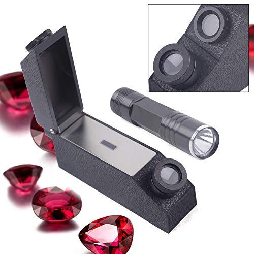 Refractometer, TBVECHI Gemological Gemstone Gem Refractometer 1.30-1.81 RI Gemological Gemstone with LED Light Source Tools