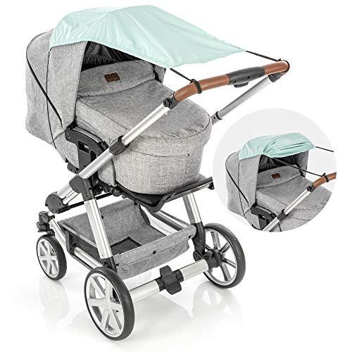 reer ShineSafe - Toldo para cochecito de bebé, protector solar para muchos modelos, color verde