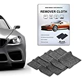 CHARMINER 4PCS Nano Car Scratch Remover Cloth,Nano Magic Repair Cloth,Car Paint Scratch Remover Cloth,Car Cleaning Paint, Scratch Removal,Surface Polishing,Rust(Black)