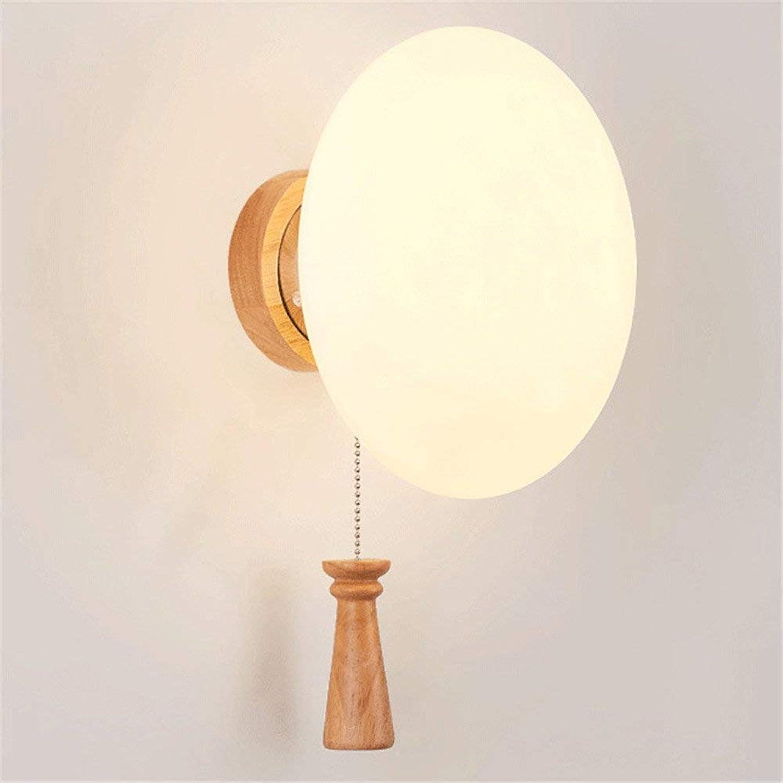 Reeseiy Wandlampe Moderne Holz Bett Wohnzimmer Schlafzimmer Led Wandleuchte 20  30 Cm Wandleuchte Retro Minimalistisch (Farbe   Colour-Größe)