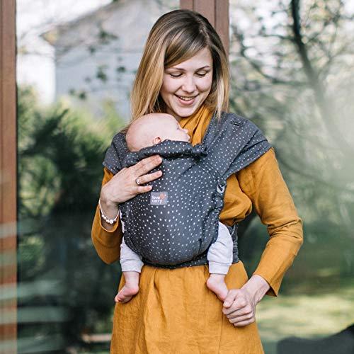 Love & Carry® Love Tie/Mei Tai Porta Bebè Marsupio Ergonomico Neonato a Fascia (Granite)