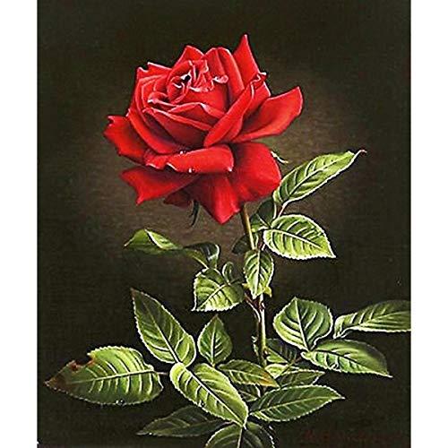 ikea schilderij rode roos